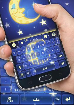 Sleepy Night Keyboard Theme apk screenshot