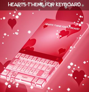 Hearts Theme for Keyboard poster