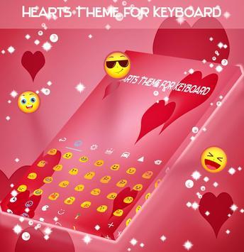 Hearts Theme for Keyboard screenshot 1