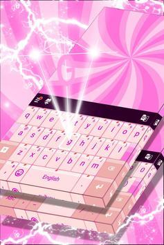 Glossy Pink Keyboard Theme poster