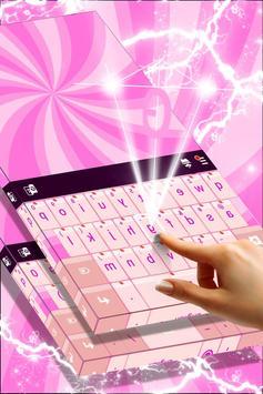 Glossy Pink Keyboard Theme screenshot 2