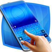 Gradient Blue Keyboard icon