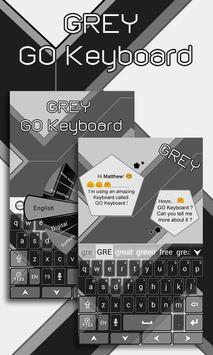 Grey GO Keyboard Theme poster
