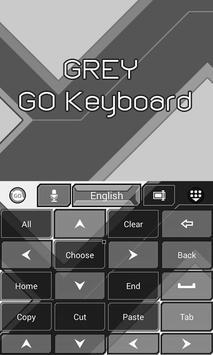 Grey GO Keyboard Theme screenshot 1