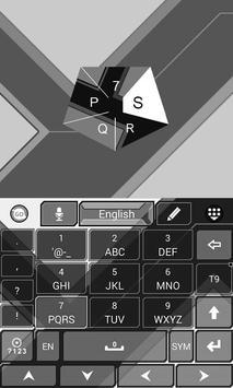 Grey GO Keyboard Theme screenshot 5