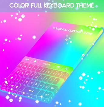 Color Full Keyboard theme poster