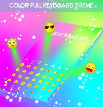 Color Full Keyboard theme apk screenshot