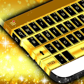 Latest Gold Keyboard Theme icon