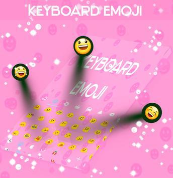 Cool Keyboard Theme with Emoji poster