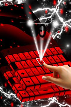 Red Keyboard Theme screenshot 1