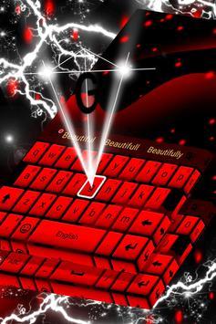 Red Keyboard Theme screenshot 3