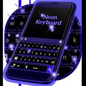 Dark Blue Neon Keyboard icon