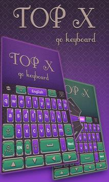 Top X Go Keyboard Theme poster