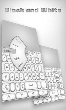 Black And White Go Keyboard Theme poster