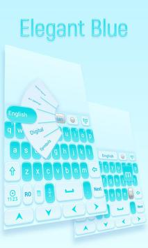 Elegant Blue GO Keyboard Theme poster