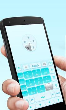 Elegant Blue GO Keyboard Theme apk screenshot