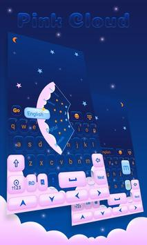 Pink Cloud GO Keyboard Theme poster