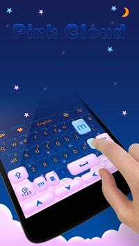 Pink Cloud GO Keyboard Theme apk screenshot