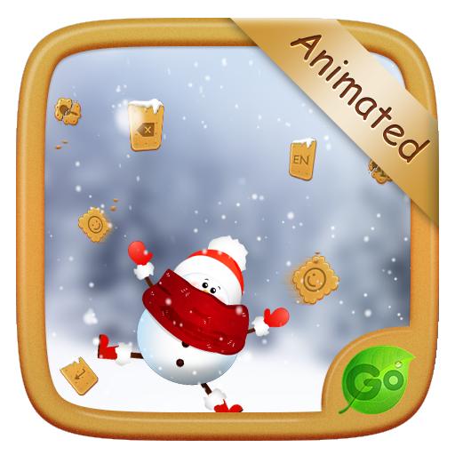 Gingerbread&Snowman GO Keyboard Animated Theme