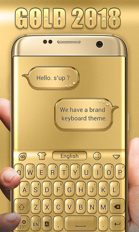 3D Gold 2018 GO Keyboard Theme for Android - APK Download
