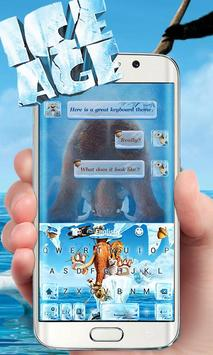 Ice Age Go Keyboard Theme poster