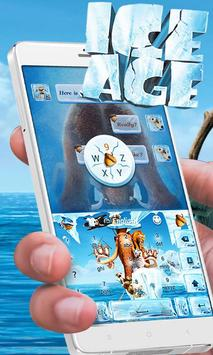 Ice Age Go Keyboard Theme apk screenshot