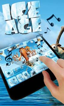 Ice Age Go Keyboard Theme apk screenshot