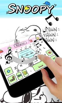 Snoopy Go Keyboard Theme apk screenshot