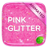 Pink Gold Glitter GO Keyboard Animated Theme icon