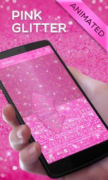Pink Gold Glitter GO Keyboard Animated Theme screenshot 2