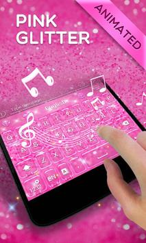 Pink Gold Glitter GO Keyboard Animated Theme screenshot 4