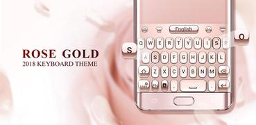 Rose Gold 2018 GO Keyboard Theme