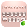 Rose Gold 2018 GO Keyboard Theme