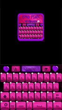 Emo Pink Go Keyboard screenshot 1