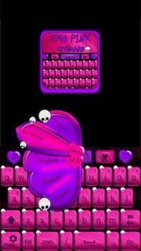 Emo Pink Go Keyboard screenshot 2