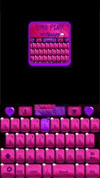 Emo Pink Go Keyboard screenshot 3