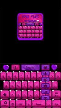 Emo Pink Go Keyboard screenshot 4