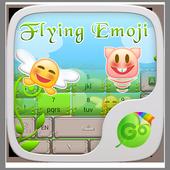 Flying Emoji GO Keyboard Theme icon