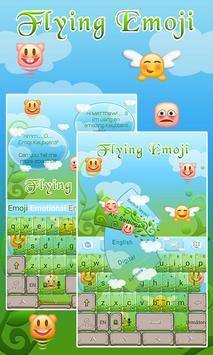 Flying Emoji GO Keyboard Theme poster