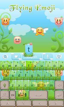 Flying Emoji GO Keyboard Theme apk screenshot