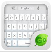 GO Keyboard Flat White Theme icon
