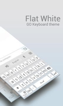 GO Keyboard Flat White Theme poster