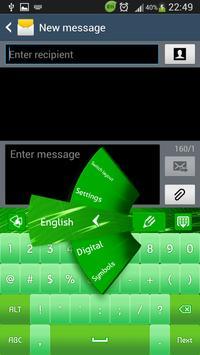 Keyboard Green Lights poster