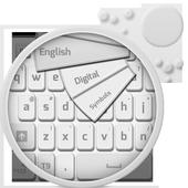 Clean White Keyboard icon