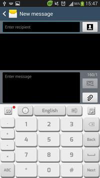 Clean White Keyboard apk screenshot