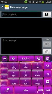 Glow Purple Keyboard screenshot 3