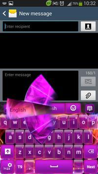 Glow Purple Keyboard poster