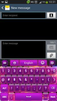 Glow Purple Keyboard screenshot 2
