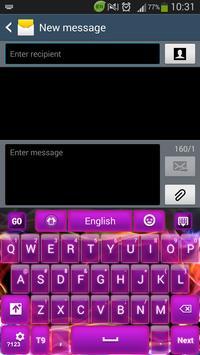 Glow Purple Keyboard apk screenshot