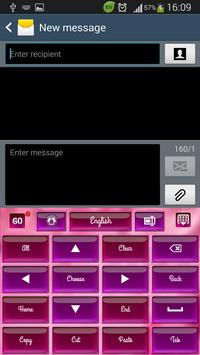 Laser Pink Keyboard apk screenshot